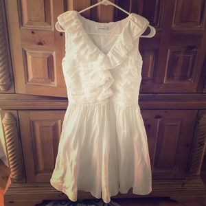 Calvin Klein white ruffle dress